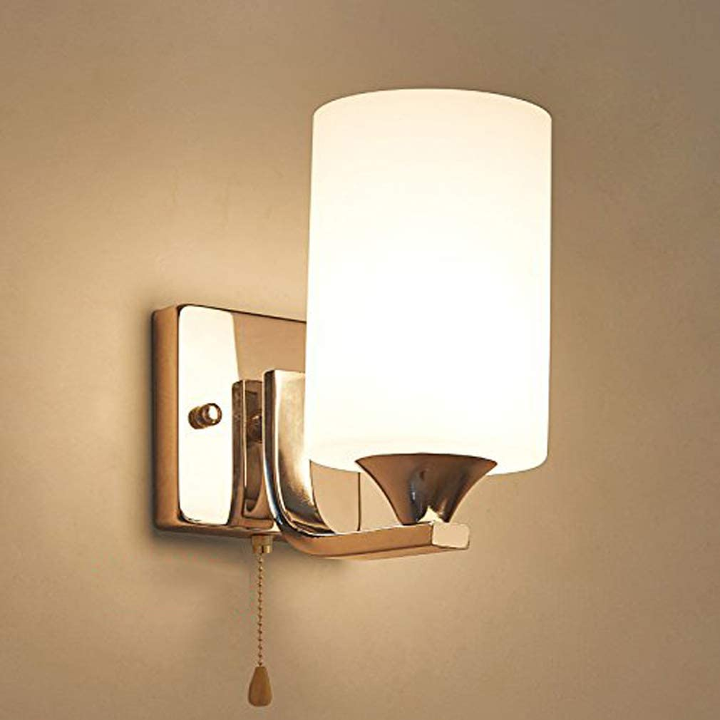 Fuskang Led Wall Lamp With A Pull Switch Pull Cord Bedside Lamp Bedroom Modern Minimalist Living Room Stairs Hallways Lamps Lighting Fixtures Amazon Co Uk Lighting