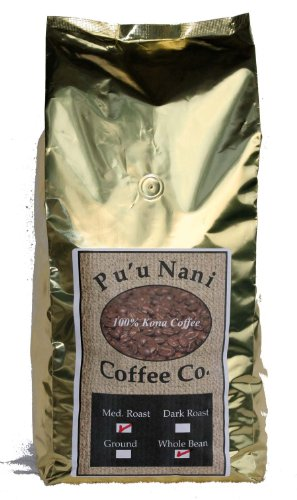 100% Kona Coffee Medium Roast Ground 5lb., Award Winning