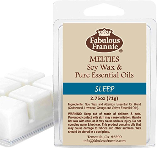 - Fabulous Frannie Sleep Pure Essential Oils All Natural Soy Candle Meltie Tart 2.75 oz (Chamomile, Marjoram, Bulgarian Lavender and Vetiver)