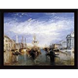 Joseph William Turner Poster Art Print and Frame (MDF) Black - Grand Canal, Venice, 1835 (32 x 24 inches)
