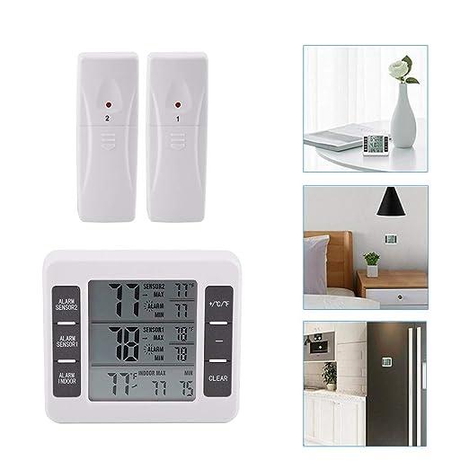 Compra Termómetro de refrigerador, termómetro digital inalámbrico ...