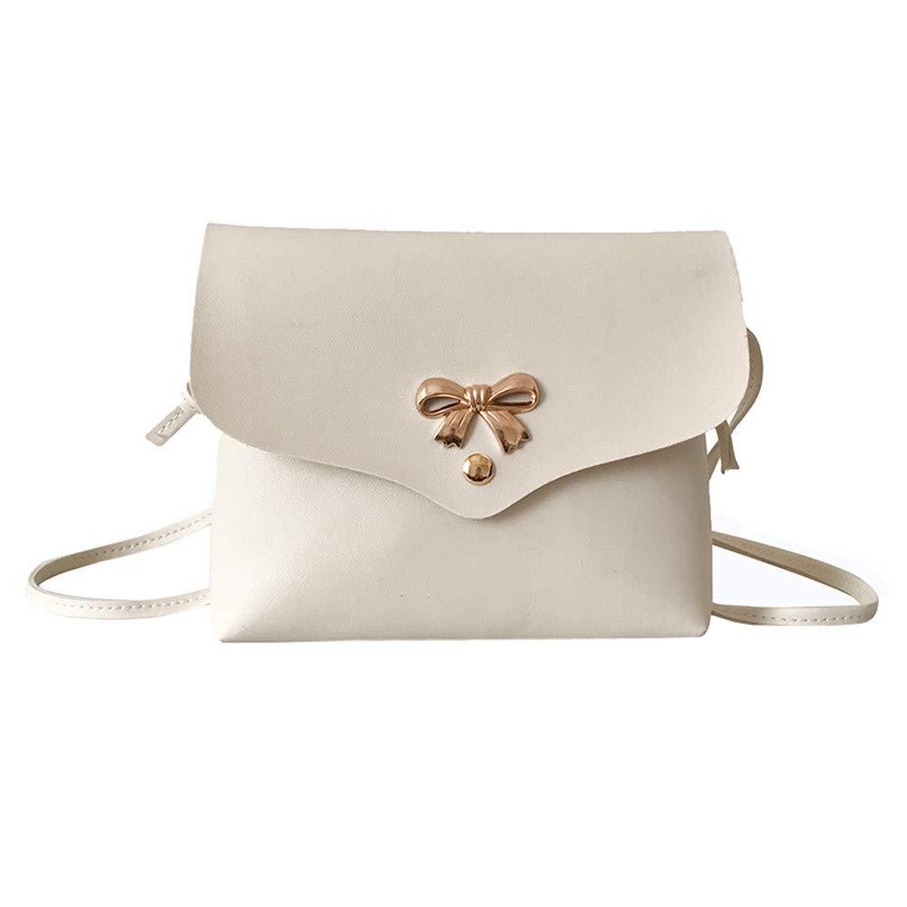 Clearance ❤ Women Bag JJLIKER Bow Pure Color Simple Messenger Crossbody Handbag