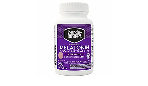 Amazon.com: Berkley Jensen QD Melatonin 5 mg., 250 ct. (pack of 2): Health & Personal Care