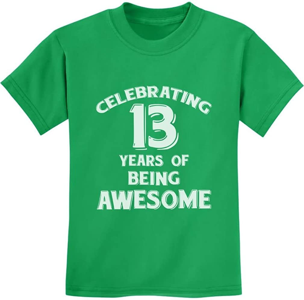 Birthday Gift for 13 Year Old Youth Kids T-Shirt 13 Years of Being Awesome