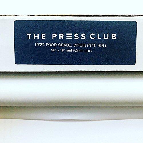 "[2 Rolls in 1] Premium Super Slick PTFE Film Roll | 0.2mm Thick | 96"" x 16"" | 100% Virgin & Food-Grade | Solvent & Terpene Resistant | Parchment Paper Alternative"