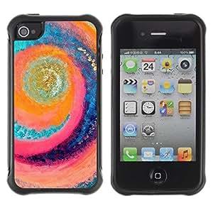 "Pulsar iFace Series Tpu silicona Carcasa Funda Case para Apple iPhone 4 / iPhone 4S , Surf Sun Remolino Playa Aguamarina"""