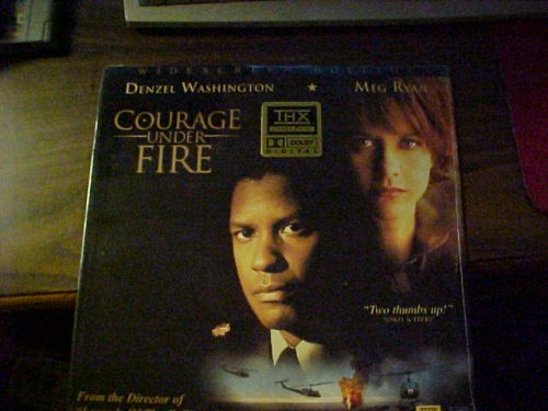 Laserdisc of COURAGE UNDER FIRE with Denzel Washington, Meg Ryan, Lou Diamond Phillips, Michael Moriarty, Matt Damon, Seth Gilliam, Bronson Pinchot and Scott Glenn. Laser Video Disc. from Unknown