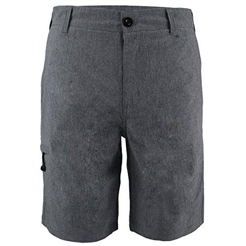 Eurogarment Mens Waterproof Amphibian Workout Shorts Casual Athletic Golf Short Pants (Grey, 38)