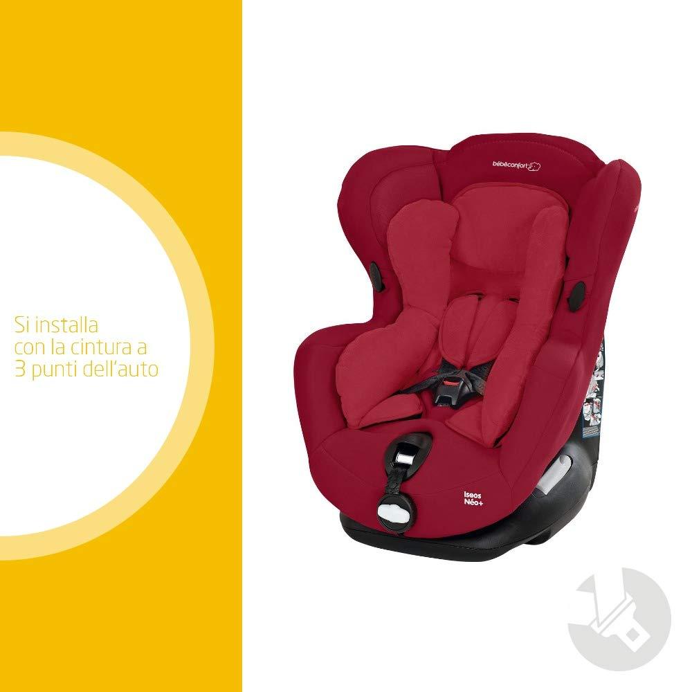 B/éb/é Confort Iseos NeoPlus Seggiolino Auto 0-18 kg Reclinabile e Facile da Installare Gruppo 0 +//1 per Neonati e Bambini fino ai 4 Anni Colore Walnut Brown Cuscino Riduttore