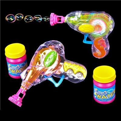 Kicko 6 Pack Bubble Gun Blower Blaster with Bubble Solution Set 4.75