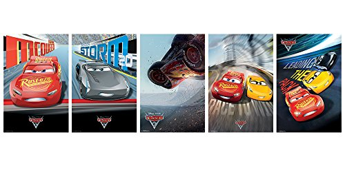 Disney Cars Art (Trends International Wall Poster Disney Cars 3 Collector's Bundle, 22.375