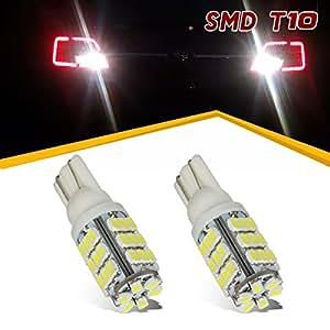 PartsSquare 2Pcs 6000K White 42-3020-SMD 921 912 158 W5W 194 Backup Reverse Led Bulb Lamp