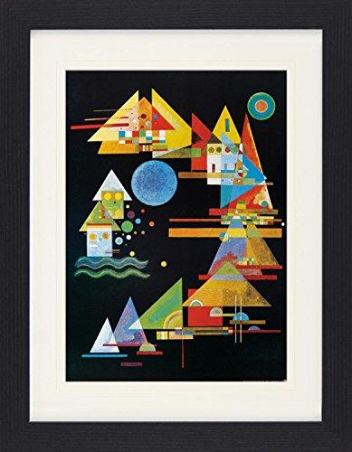 1art1 114018 Wassily Kandinsky - Spitzen Im Bogen, 1927 Gerahmtes Poster Für Fans Und Sammler 40 x 30 cm