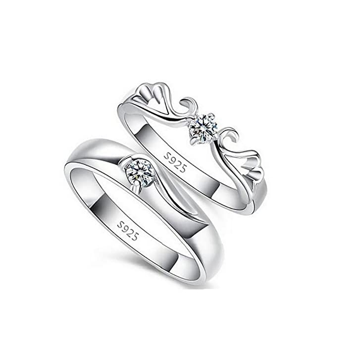 Amazon Com Tidoo Jewelry His Her Engagement Wedding Band Couple