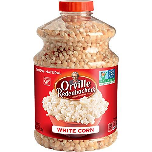 Orville Redenbacher's Original Gourmet White Popcorn Kernels, 30 Ounce, Pack of 6 -