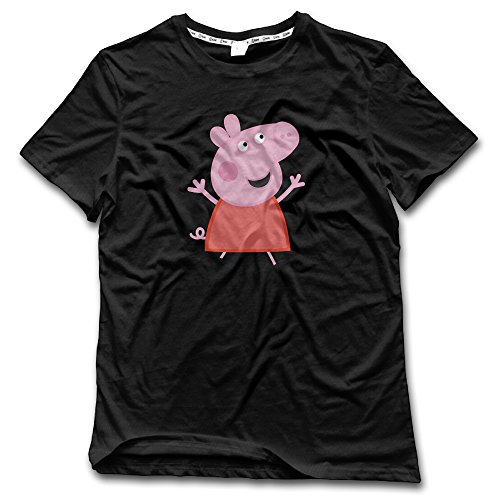 Men's Popular Cartoon Peppa Pig Graphic T Shirts - Teddy Minky