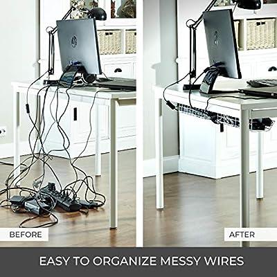 Scandinavian Hub Bandeja Organizadora Cables para Debajo de la ...