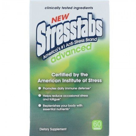Stresstabs Advanced High Potency Stress Supplement - 60 ea., Pack of 6 by Stresstabs