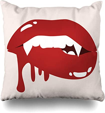 mouth Zippered Pillow Cases 18x18