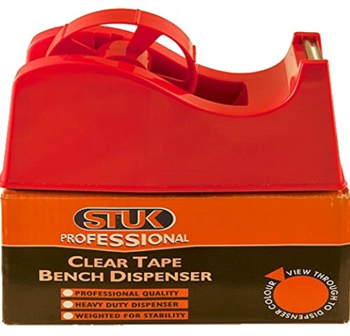 STUK Professional PCTBD1 Bench Dispenser for Clear Tape - Red