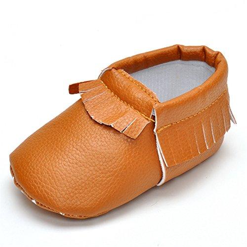 Estamico bebé niñas niños borla mocasín zapatos negro negro Talla:12-18 meses caqui