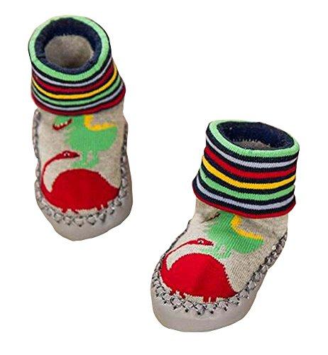 ノンスキッドフロア幼児靴下コットンベイビーウォーキングシューズペア