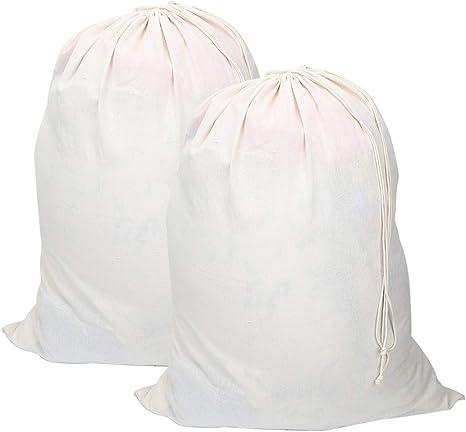 Vivifying - Bolsas de lavandería extra grandes de algodón natural ...