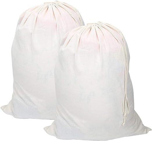 Vivifying Bolsas de lavandería Extra Grandes de algodón Natural, 2 ...