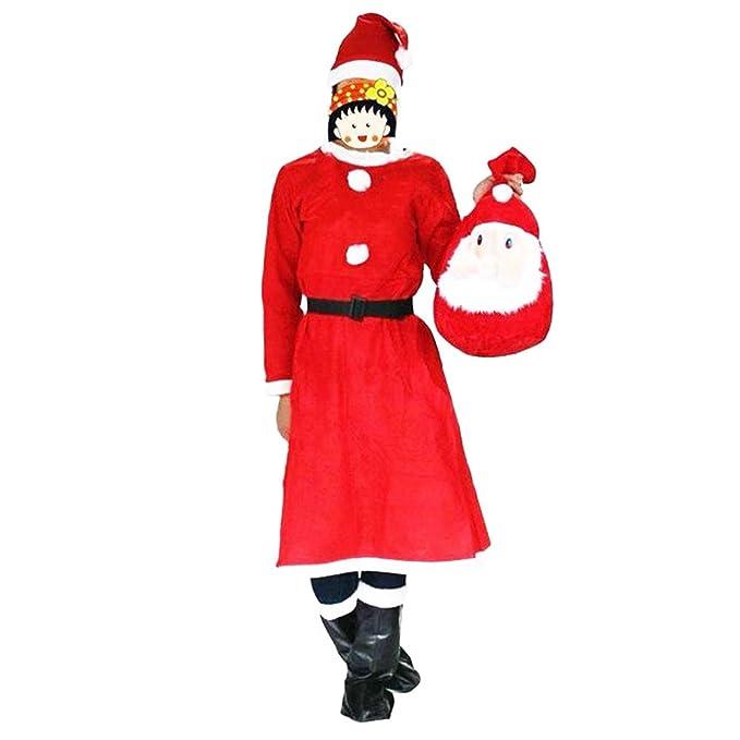 wlgreatsp Mujeres Adultas Feliz Navidad Papá Noel Traje de ...