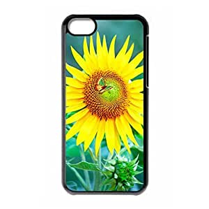 Laugh Face Sunflower logo hard back shell for iPhone 5C