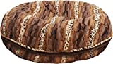 BESSIE AND BARNIE 30-Inch Bagel Bed for Pets, Small, Wild Kingdom