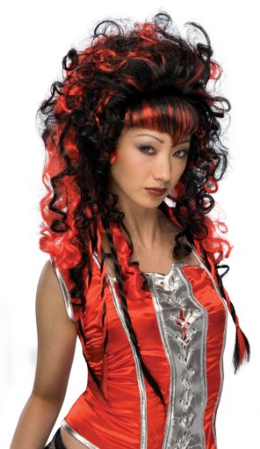 Rubie's Frighten Vampiress Wig, Black/Red, One Size -