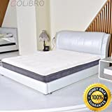 COLIBROX--California King Size 10'' Memory Foam Bamboo Fiber Cover Mattress Pad Bed Topper. best cooling mattress topper.bamboo charcoal memory foam mattress topper review.bamboo mattress topper.
