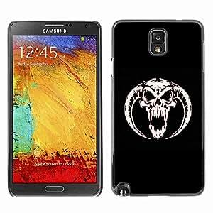 Planetar® ( Horned Devil Skull ) Fundas Cover Cubre Hard Case Cover Samsung Galaxy Note 3 III / N9000 / N9005