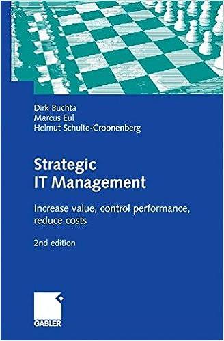 Strategic IT Management: Increase value, control performance
