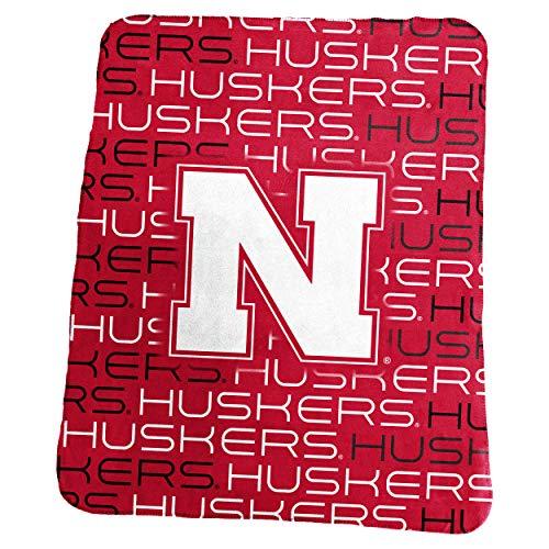 Logo Brands NCAA Nebraska Cornhuskers Classic Fleece, One Size, (Nebraska Cornhuskers Ncaa Fleece)
