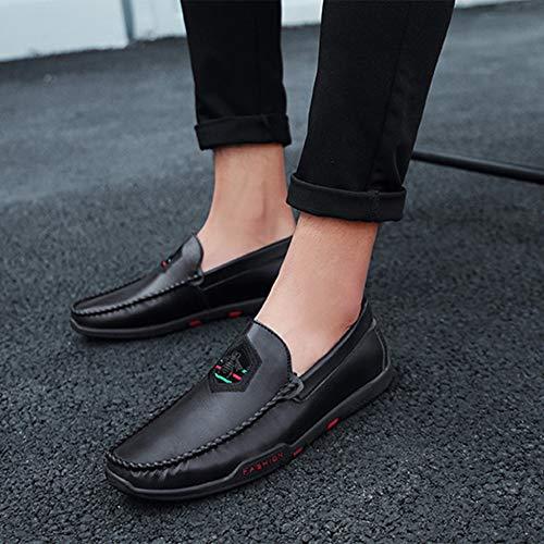 Mocassins Plates Souples Jeunes Black Confortables Décontractées Antidérapantes Chaussures Pois Dan 7wvdqxU11