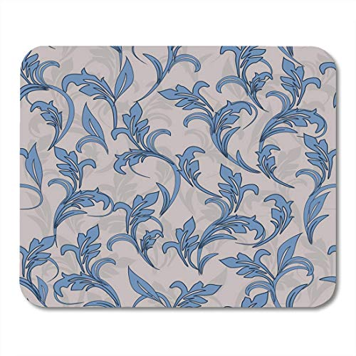 Mouse Pads Cartoon Blue Abstract Damask Pattern Endless Ceramic Linoleum Antique Composition Mouse Pad 9.5 x 7.9 for Notebooks,Desktop Computers Mouse Mats, Office ()