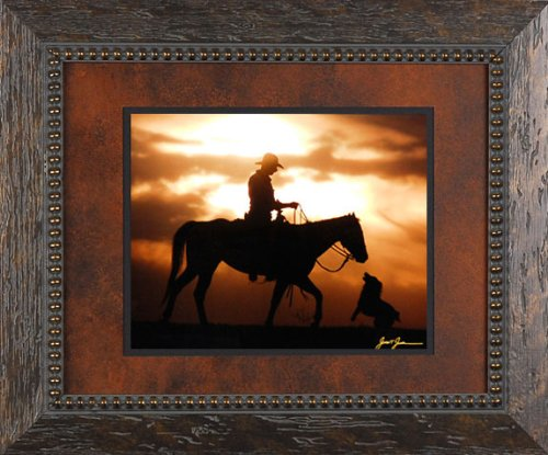 best-friends-james-jones-18x15-gallery-quality-framed-print-photography-horses-dogs-western-cowboys