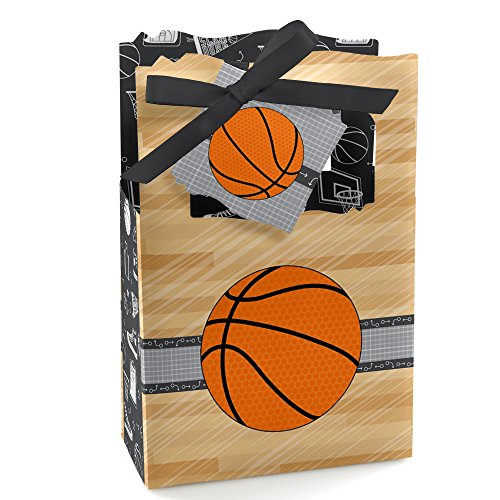 Nothin' But Net - Basketball - Baby Shower or Birthday Party Favor Boxes - Set of 12 - Basketball Case Pack