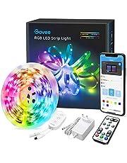 Govee LED Strip 5m, RGB LED strip, bestuurbaar via app en afstandsbediening, met muziekmodus, voor thuis, slaapkamer, keuken, party