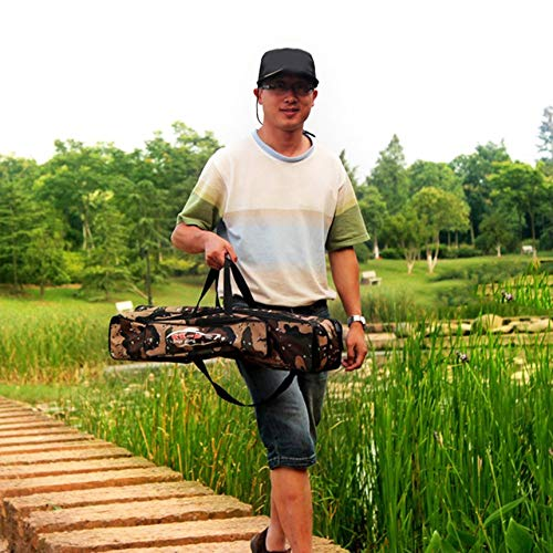 Fishing Rod Bag Camouflage Double Layer Waterproof Oxford Cloth Fishing Bag