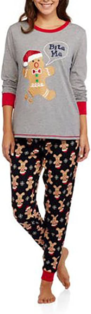 Secret Treasures Navidad Bite Me Galleta De Jengibre 2 Piece Pajama Lounge Set Xxx L 22 24 Cintura Multicolor Clothing