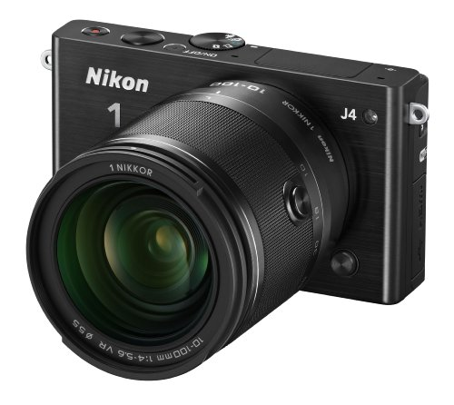 Nikon 1 J4 Digital Camera with 1 NIKKOR 10-100mm f/4.0-5.6 VR Lens (Black) (Discontinued by Manufacturer)