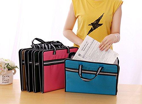 a1ffcf8f1179 Portable 13 Pockets Expandable File Folders Canvas A4 Size - Import ...