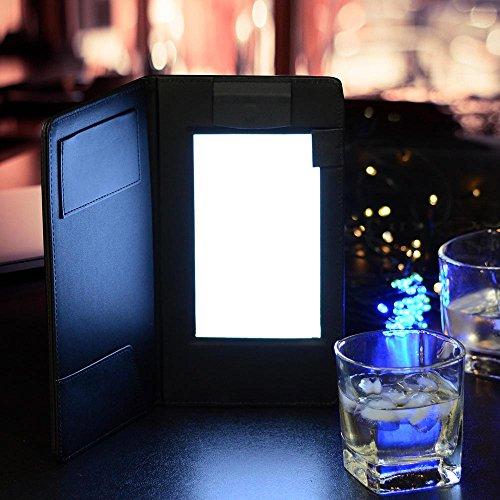 (Yescom Folding LED Backlit Illuminated Black Leatherette Check Presenter/menu Holder)