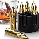 Metal Whiskey Stones - 6-Pack Steel Whiskey Rocks
