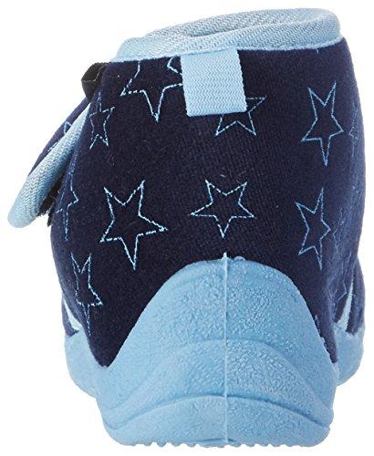 Playshoes Hausschuh Pastell - Zapatilla de estar por casa Unisex Niños Azul - azul marino 11