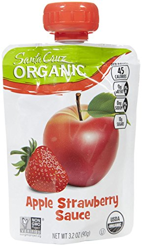 Santa Cruz Organic Organic Sauce Pouches - Apple Strawberry - 4 (Santa Cruz Organics Apple)