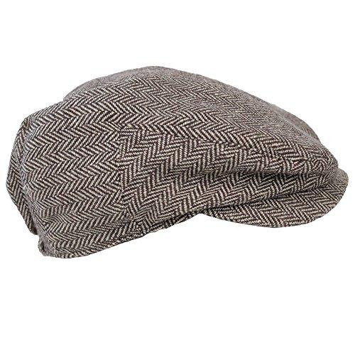 - juDanzy Baby & Toddler Plaid Cabbie Hats (6-12 Months, Brown Tweed)
